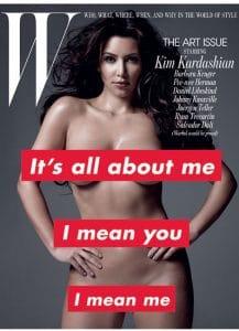Kim Kardashian W Nude Cover