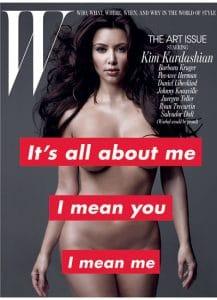 Kim Kardashian W Nude Cover 2010