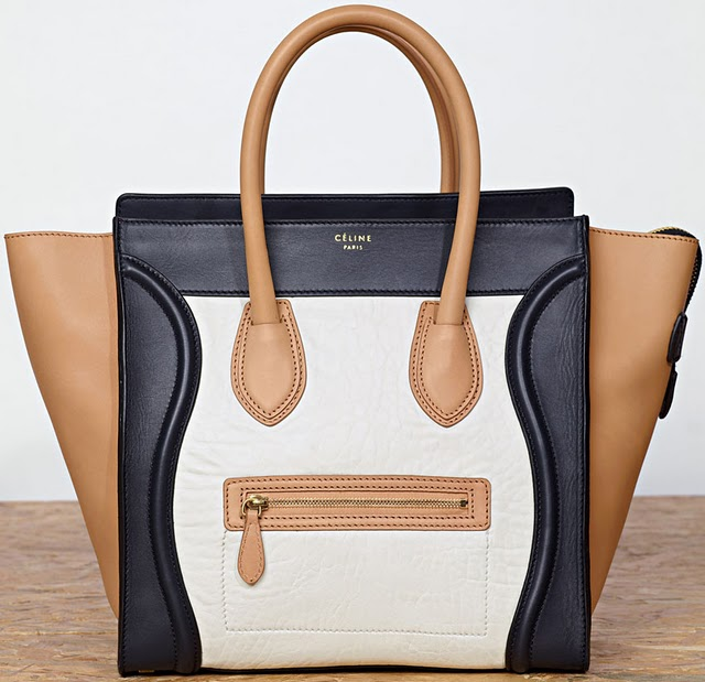 celine luggage mini bag price - Celine Luggage Tote Tri-Color in Black and Beige at Spotted ...