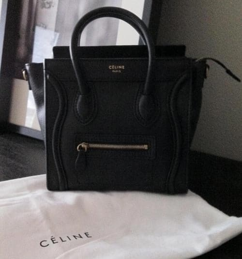 celine royal blue handbag - celine nano luggage black