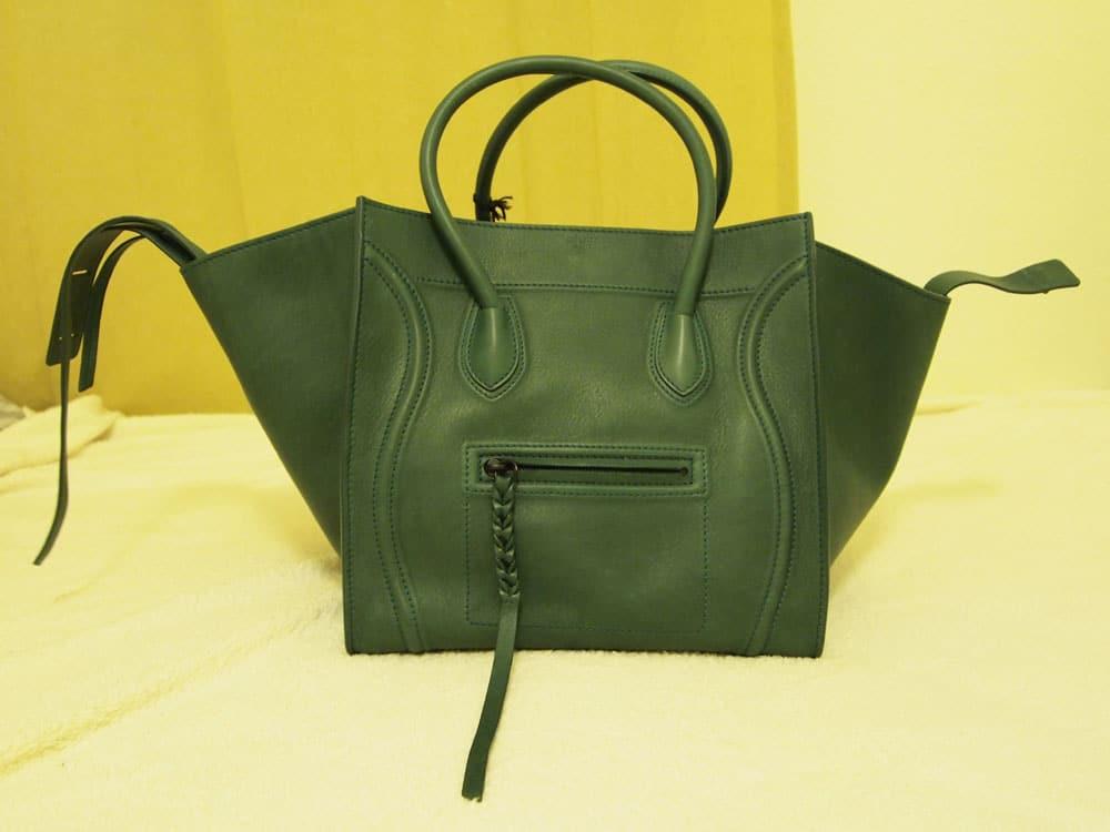 Celine Luggage Phantom Tote Green