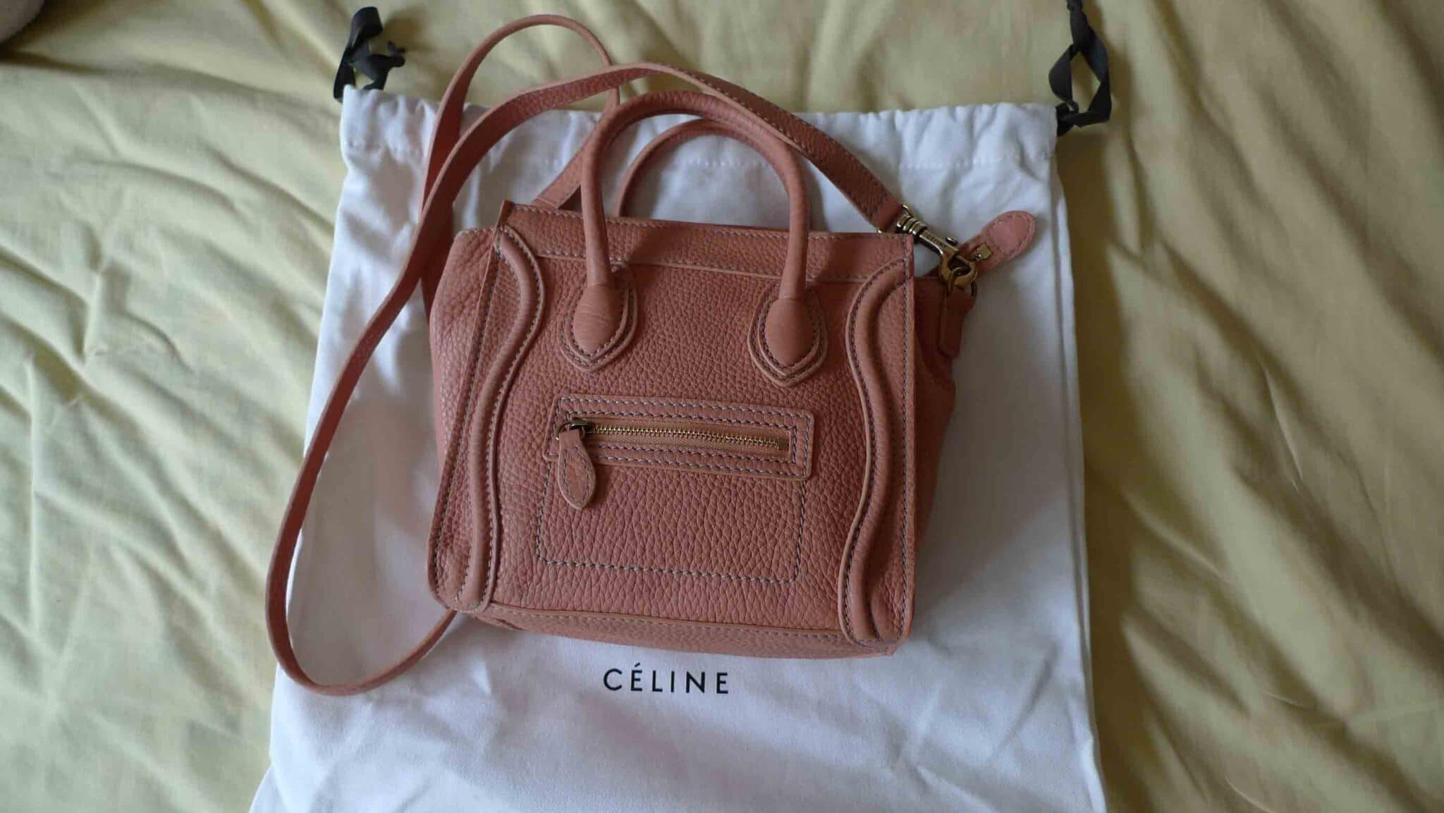 sac cabas celine - Celine nano luggage in peach | Spotted Fashion