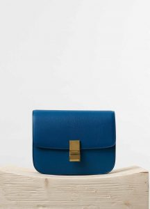 Celine Deepsea Goatskin Classic Box Medium Bag