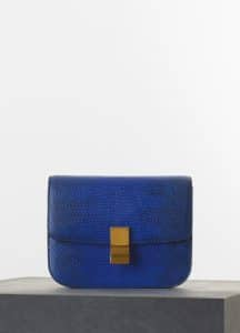 Celine Indigo Lizard Classic Box Medium Bag