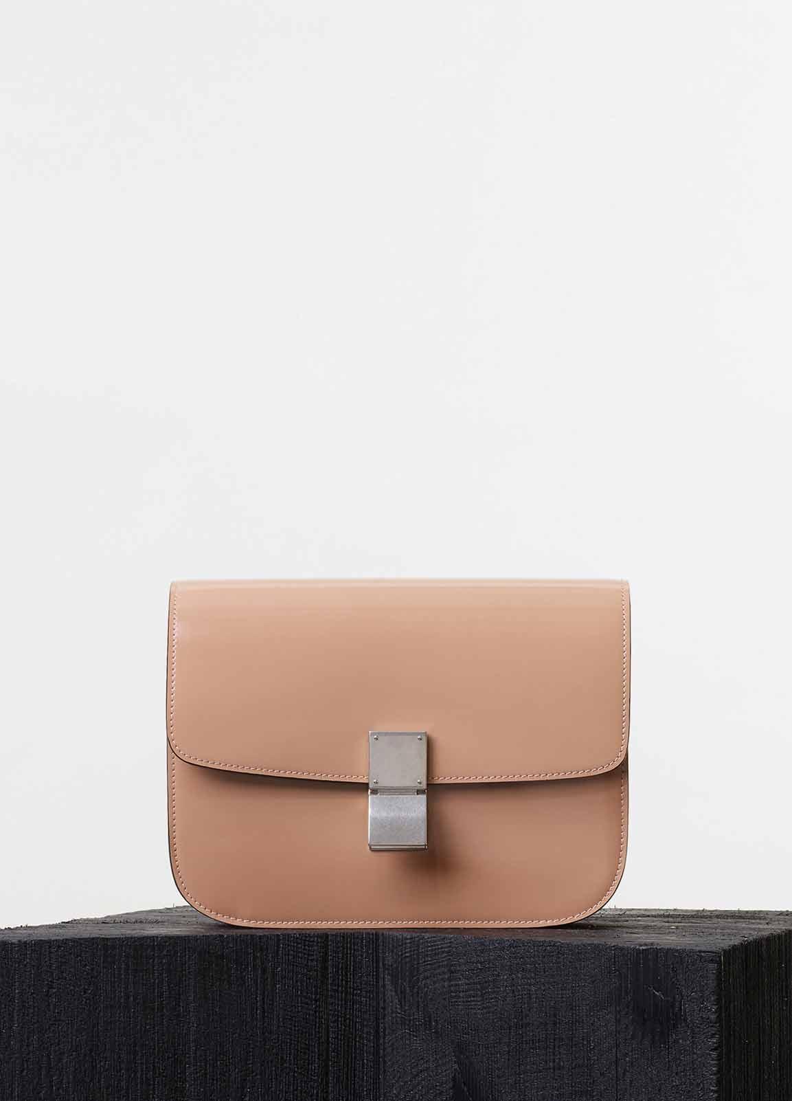 Celine Nude Spazzolato Calfskin Classic Box Medium Bag 953c6a3f6cb7c