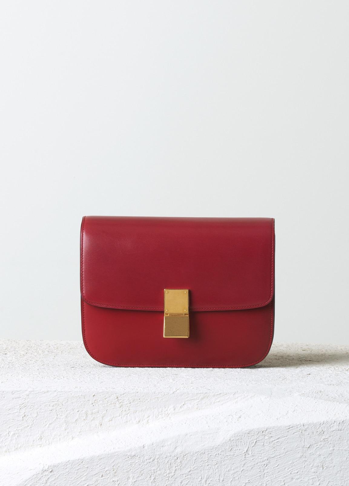 Celine Red Box Calfskin Classic Box Medium Bag