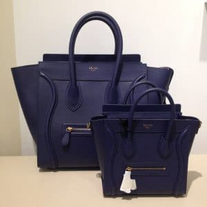 Celine Navy Blue Nano Bag