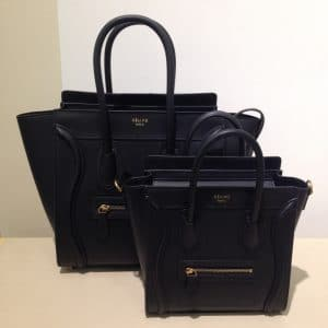 Celine Black Nano Luggage Bag