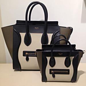 Celine Beige Tricolor Nano Luggage