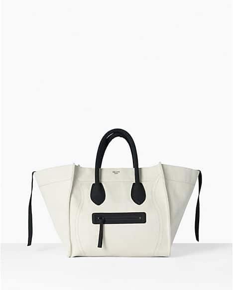 celine phantom bag white