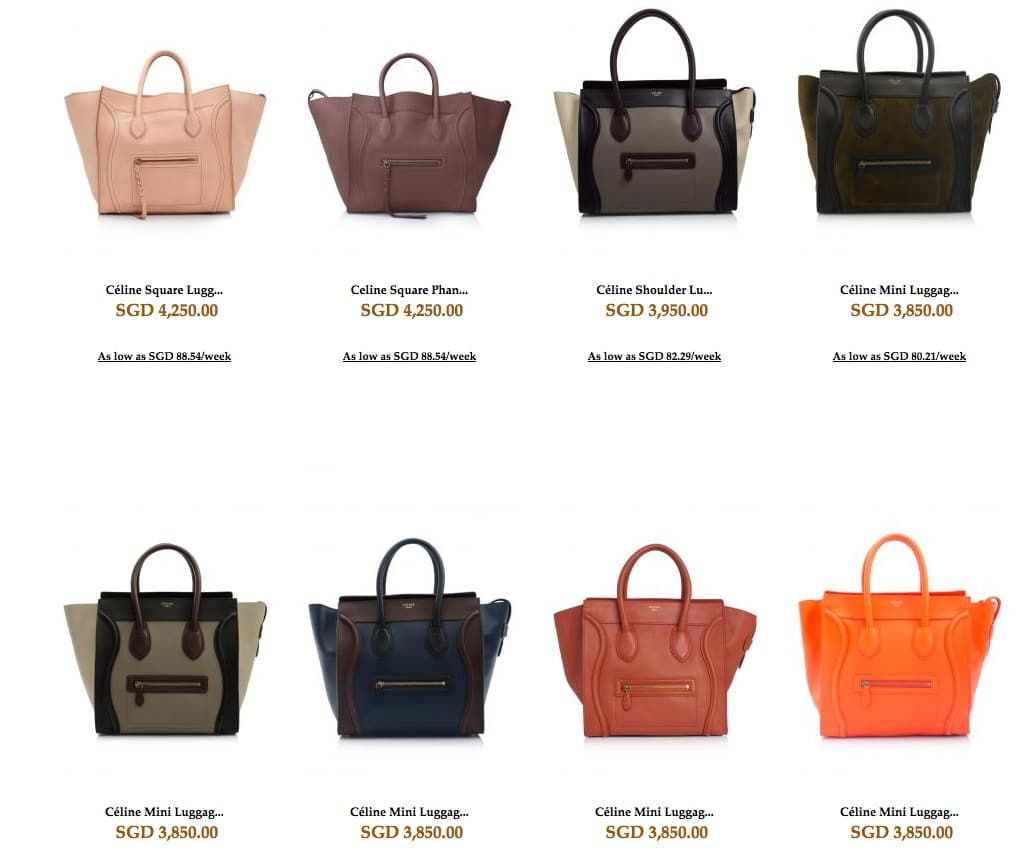 price of a celine bag