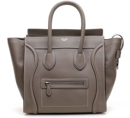 Celine Souris Grey Mini Luggage Bag   Spotted Fashion