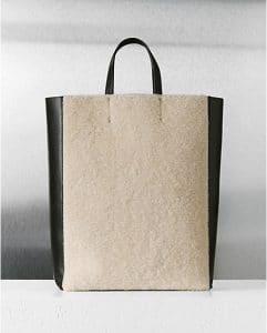 celine-creme-shearling-vertical-cabas-bag