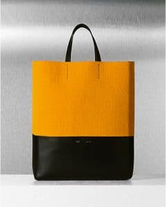 celine-yellow-felt-bicolor-vertical-cabas-bag