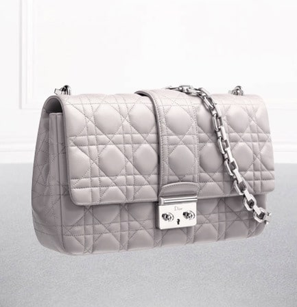 Miss Dior' Bag Rose Poudre Lambskin With Shoulder Strap 62