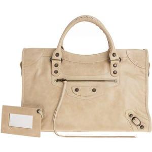 Kourtney Kardashian With Balenciaga Beige Sahara Rh City Bag Spotted Fashion