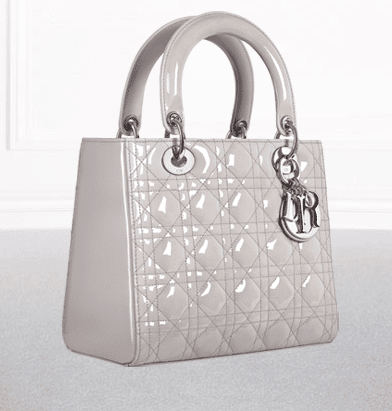 content. uploads. dior pearled grey patent lady dior bag.
