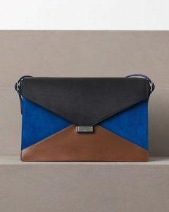 celine-black-blue-suede-diamond-clutch-bag