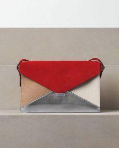 celine-red-suede-silver-metallic-diamond-clutch-bag