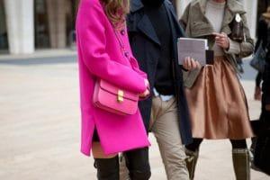 Celine Neon Pink Bag Streetstyle