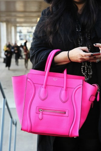 Celine Fluo Pink Bags and RTW | Spotted Fashion