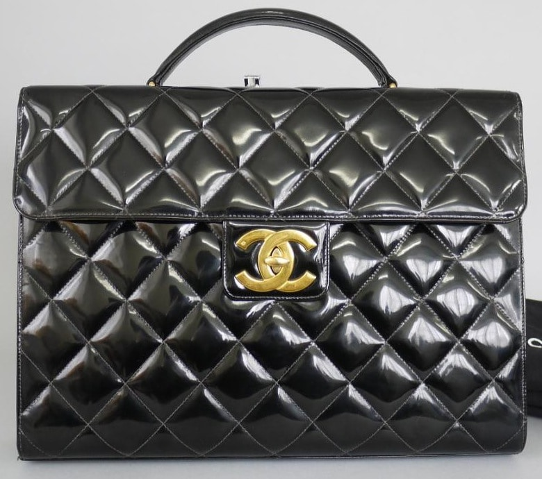 chanel vintage briefcase reference guide � spotted fashion