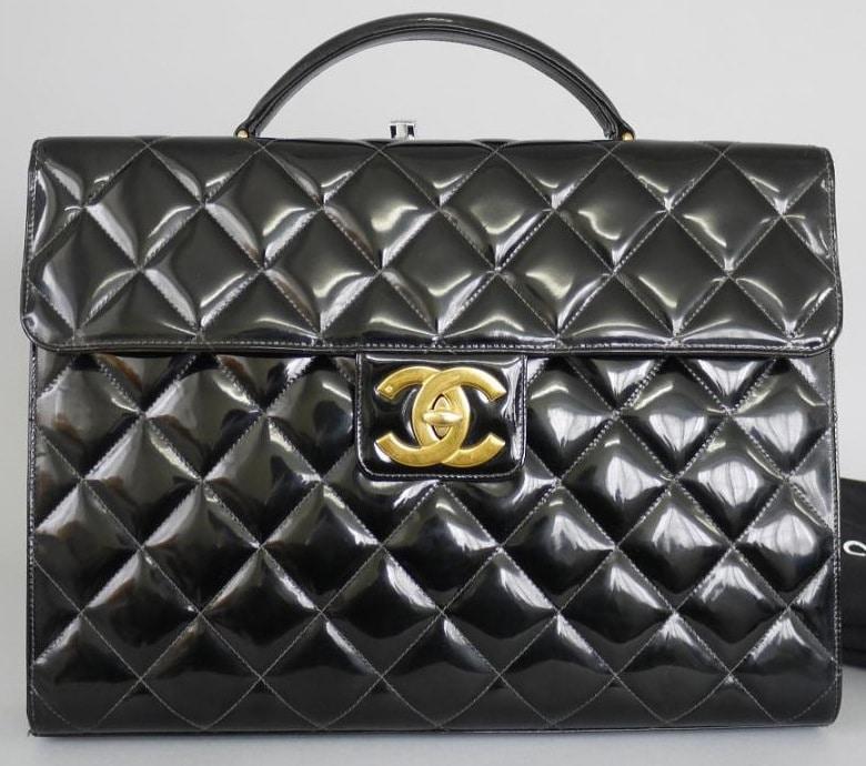 Vintage Chanel Bags Inside Chanel Black Patent Vintage