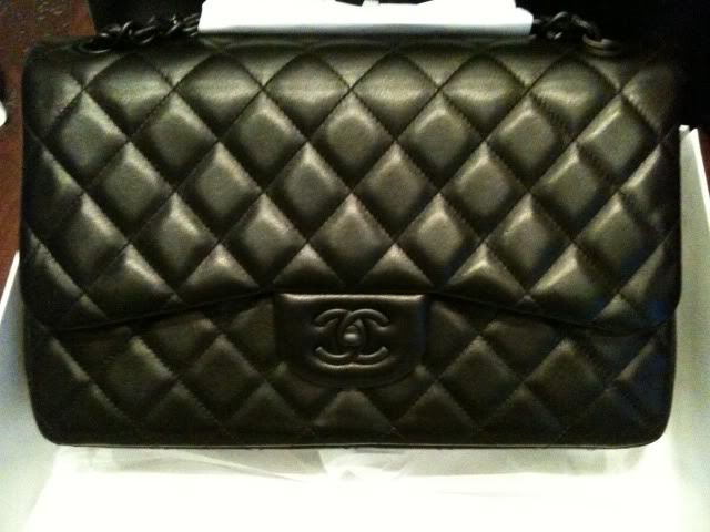 Chanel Black Hardware Flap Bag