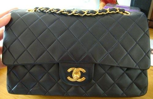 Vintage Chanel Bags Inside Chanel Navy Blue Vintage 2.55