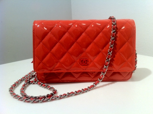 chanel red classic quilted woc bag � spotted fashion