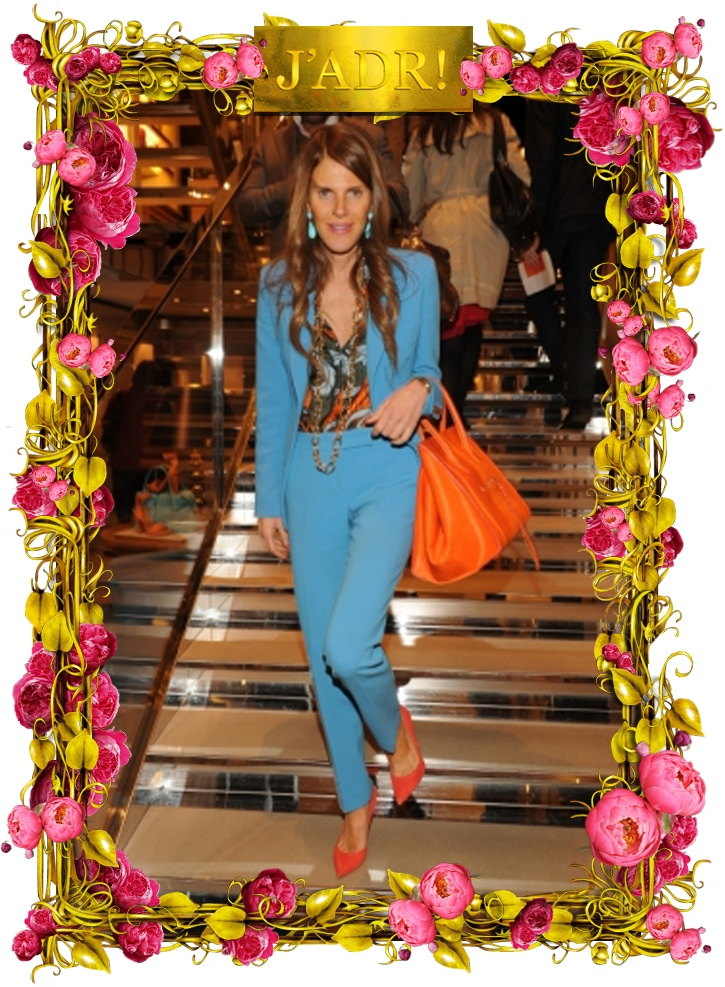 celine shoulder luggage tote - Anna Dello Russo with Celine Orange Phantom Bag | Spotted Fashion