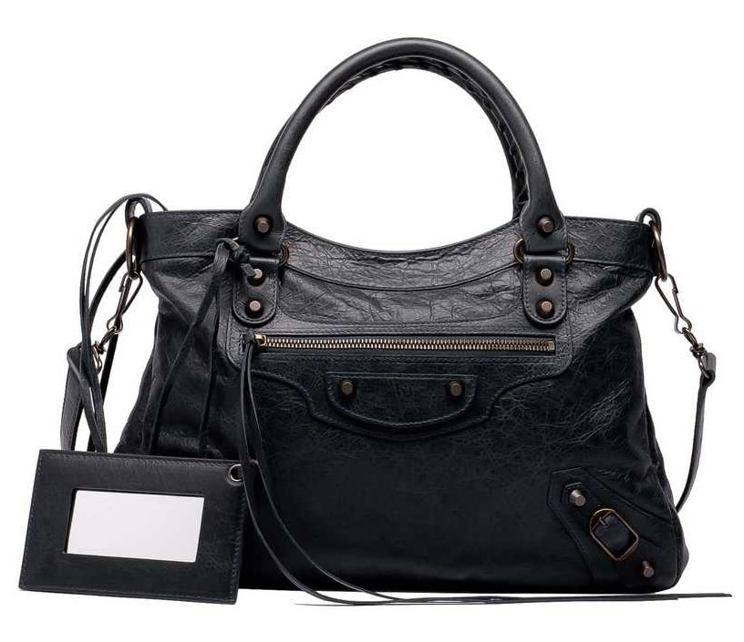 Black Large Ribbon Bag