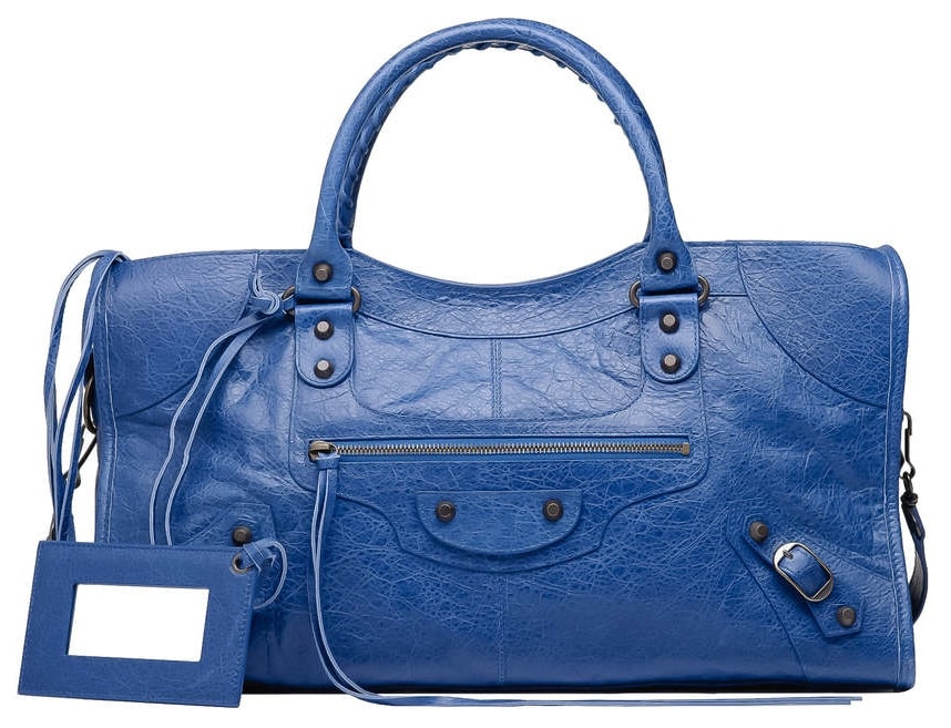 Balenciaga Blue Bags Reference Guide Spotted Fashion