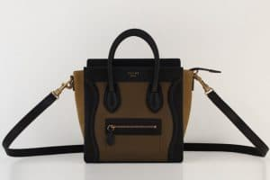 Celine Nano Luggage Bag tri color