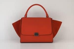 Celine Trapeze bag in Orange Vermillon