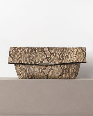 celine bags online review - celine python print leather clutch bag