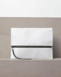 celine-white-oversized-zip-clutch-bag