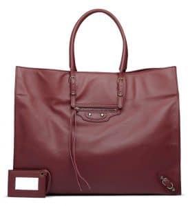 Balenciaga Bordeaux Papier A4 Bag