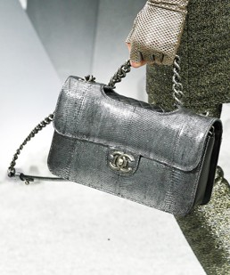 Chanel Grey Python Flap Bag