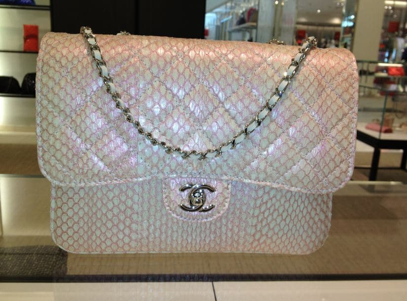 Chanel flap Bags in Python. Jumbo flap bag is  6 32e17d245ce75