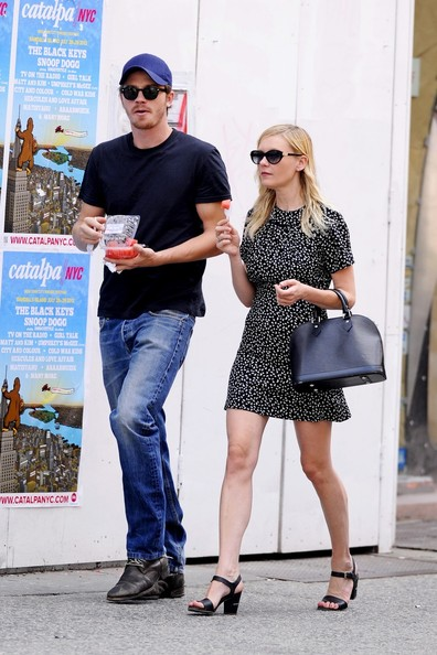 Kirsten Dunst with Louis Vuitton Alma Bag : Spotted Fashion