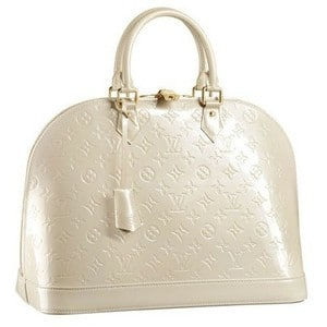 Louis Vuitton Blanc Corail Vernis Alma Bag