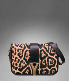 YSL medium leopard print CHYC Flap Bag
