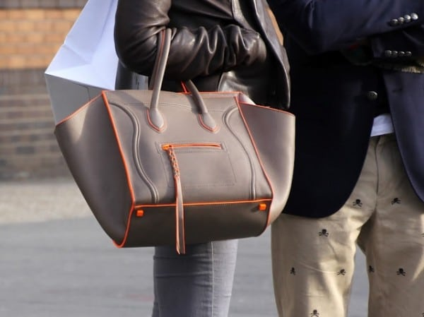 orange celine luggage