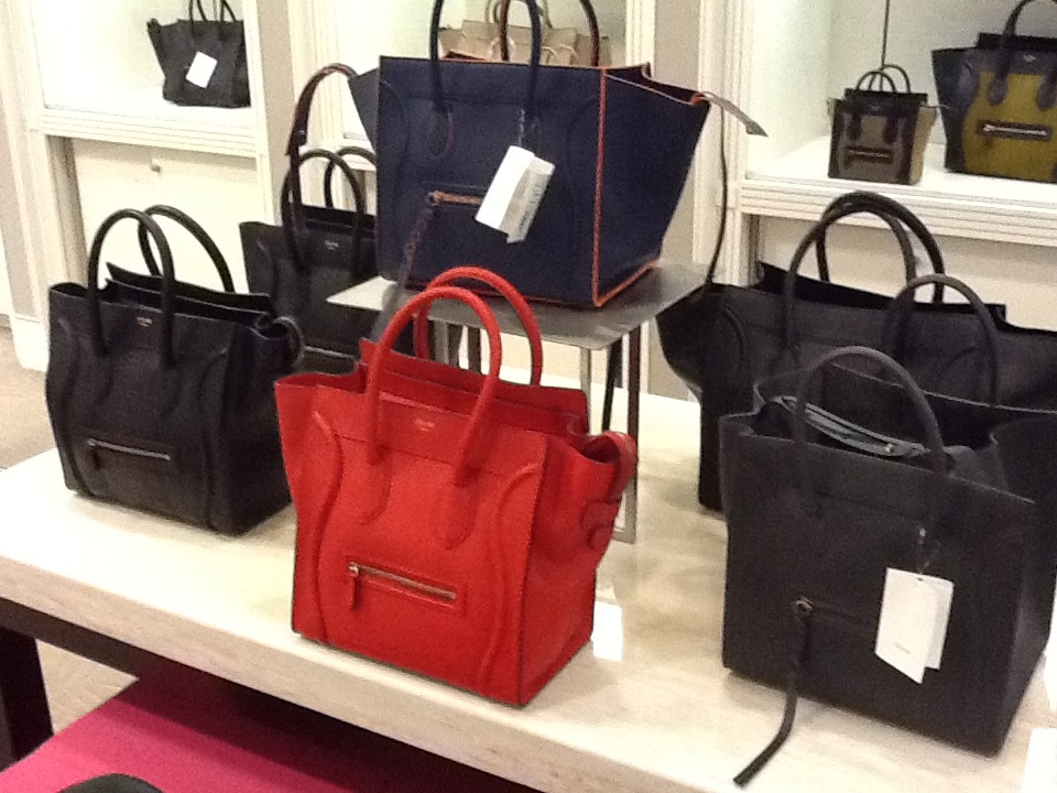 buy celine luggage online - Celine Phantom with Blue or Orange Trim Bag Reference Guide ...