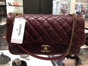 Chanel Burgundy Large Shiva Flap Bag