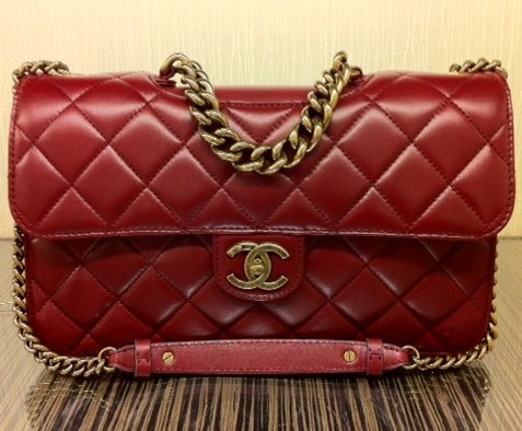Chanel Burgundy Perfect Edge Jumbo Flap Bag