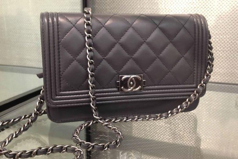 Chanel le Boy Woc Chanel Dark Grey Boy Woc Bag