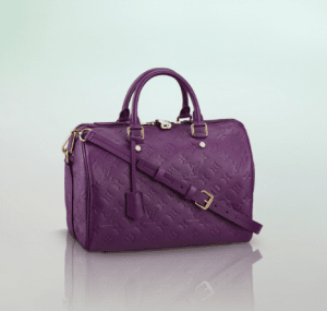 Louis Vuitton Amethyste Monogram Empreinte Speedy Bandouliere 30 Bag