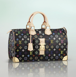 Louis Vuitton Black Monogram Multicolore Speedy 40 Bag
